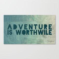 Aristotle: Adventure is Worthwile Canvas Print
