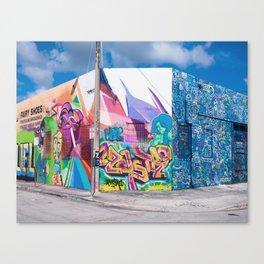 Tattooed Walls form Wynwood Miami Grafitti 3 Canvas Print