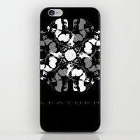 leather iPhone & iPod Skins featuring LEATHER by muckypets