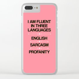 Language Proficiency Clear iPhone Case