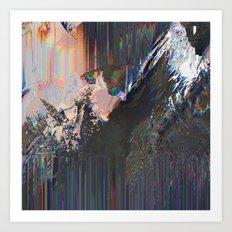 Glitched Landscape 1 Art Print