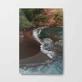 Maui in Red Metal Print