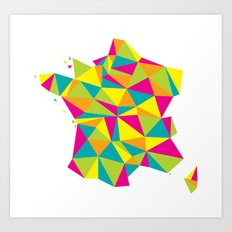 Abstract France Bright Earth Art Print