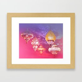Oriental Magical Lights and Love Framed Art Print