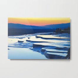 Pamukkale, meaning cotton castle in Turkey Metal Print
