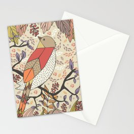 Singing Red Bird Stationery Cards