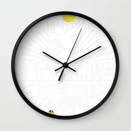 If You Wanted a Soft Serve Funny Volleyball Player Tee Wall Clock
