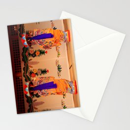 Traditional dancers in Okinawa Stationery Cards