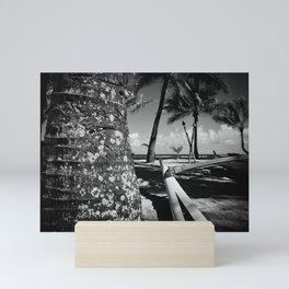 Kuau Beach Palm Trees and Hawaiian Outrigger Canoe Paia Maui Hawaii Mini Art Print