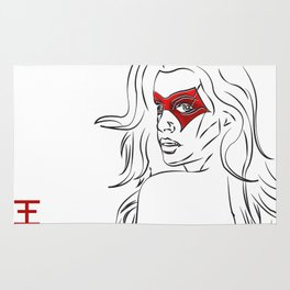 Masked Woman Rug