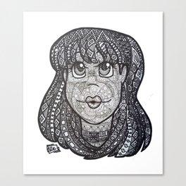 Bubble Gum Tangle Canvas Print