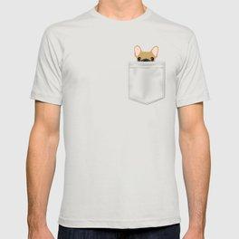 Pocket French Bulldog - Fawn T-shirt