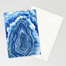 Blue Geode Stationery Cards