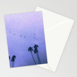 Sunset Shades Rainy Palm Trees Stationery Cards