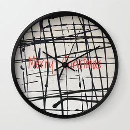Best foot forward - Merry Christmas Wall Clock