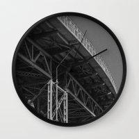 bridge Wall Clocks featuring Bridge by Christophe Chiozzi