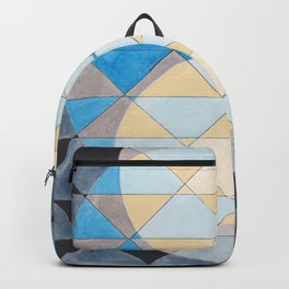 Triangle Pattern No. 14 Circles in Black, Blue and Yellow Backpack