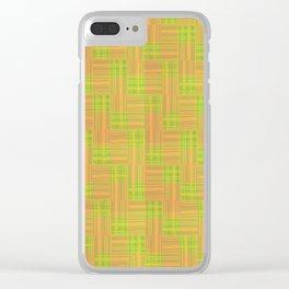 Interpretive Weaving (Fiesta) Clear iPhone Case