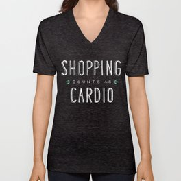 Shopping Counts As Cardio Unisex V-Neck