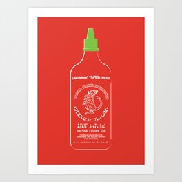 Pass The Yamok Sauce (Clear Bottle Ver) Art Print