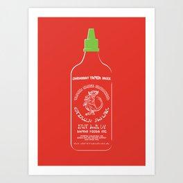 Pass The Yamok Sauce (Clear Bottle Ver) Art Print