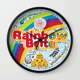 Rainbow Brite Wall Clock