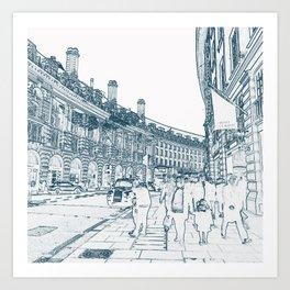 London Regent Street Art Print