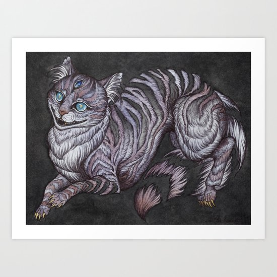 the Cheshire Cat art print by caitlinhackettart