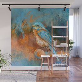A Splash Of Bluebird Wall Mural