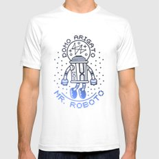 Mr. Roboto White Mens Fitted Tee SMALL