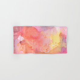 Sunset Color Palette Abstract Watercolor Painting Hand & Bath Towel