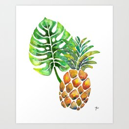 Monstera Pineapple Art Print