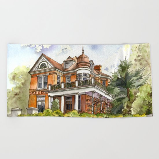 Stately Manor House Beach Towel