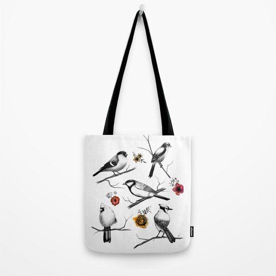 BIRDS & FLOWERS Tote Bag