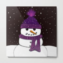 The Armless Snowman Metal Print