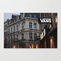 vans Canvas Prints featuring Vans by ptitlouis