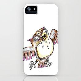 Wise Old Owl w/ Gel Pen iPhone Case