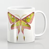 moth Mugs featuring moth by Manoou