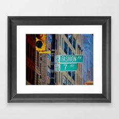 Fashion Avenue  Framed Art Print