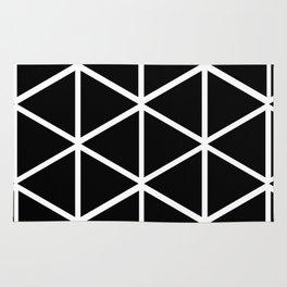 BLACK & WHITE TRIANGLES 2 Rug