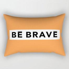 BE BRAVE WinterWonderland collection orange Rectangular Pillow