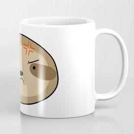 Angry Sloth Face Coffee Mug