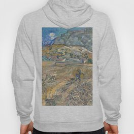 Enclosed Field with Peasant by Vincent van Gogh, 1889 Hoody