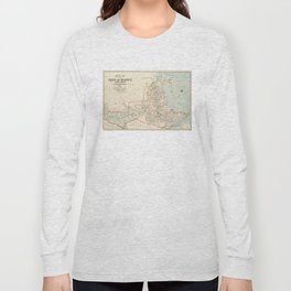Vintage Map of Quincy MA (1907) Long Sleeve T-shirt