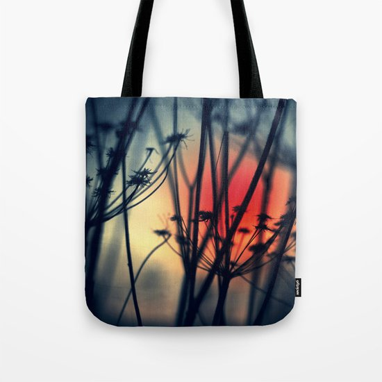 Shapes - dry weeds at sunrise Tote Bag