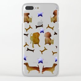 Dachshunds  & Stars Clear iPhone Case