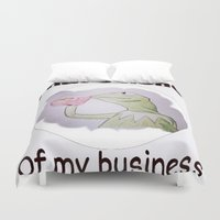 kermit Duvet Covers featuring Kermit the frog by Cameron Coleman