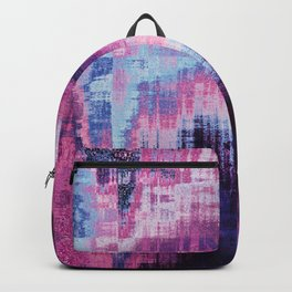 Violet Abstract Glitch effect Backpack