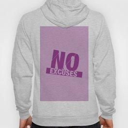 No Excuses - Purple Hoody
