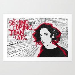 """""""Joan"""" poster Art Print"""
